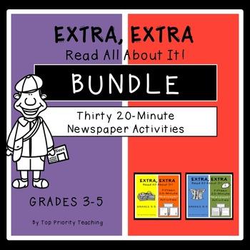 Newspaper Activities Bundle - 30 Weeks