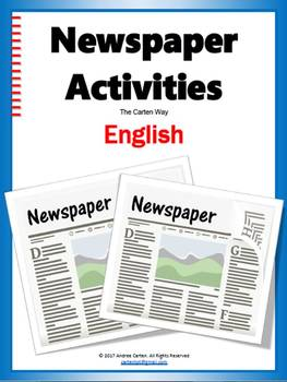 Reading, Writing, or Speaking with Newspaper Activities
