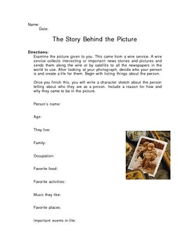 Newspaper Activity - The Story Behind the Picture