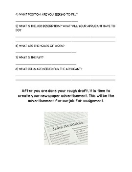 Newspaper Advertisement Project
