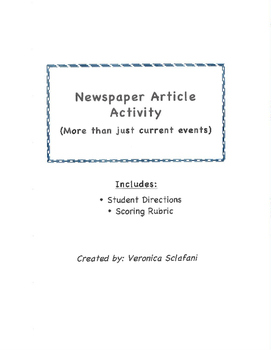 Newspaper Article Activity
