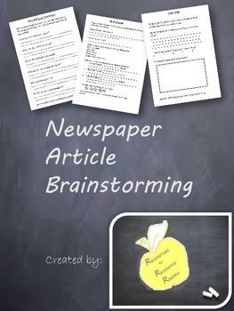 Newspaper Article Brainstorming
