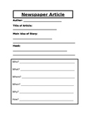 Newspaper Article Outline