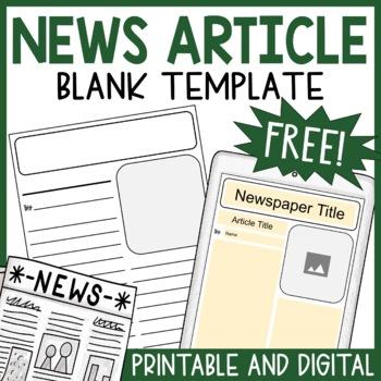 Newspaper Article Template - Blank News Template
