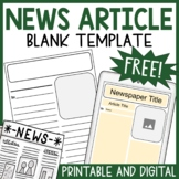 Newspaper Article Template   Writing a News Article   Printable & Digital