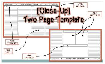 Newspaper Article Templates 8.5x14 Legal Size [Editable in MS Word]