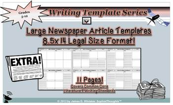 Newspaper Article Templates 8.5x14 Legal Size [Editable in