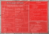 Newspaper Article Writing Checklist