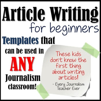 how to write an article for beginners