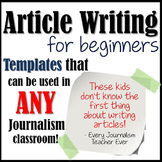 Newspaper- Article Writing for Beginners!