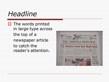 newspaper assignment template ppt rubrics primary to middle years