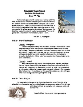 Newspaper Book Report