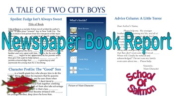 Newspaper Book Report - Electronic and Written