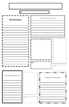 Newspaper Book Report Template