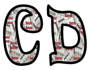 Newspaper Bulletin Board Letters