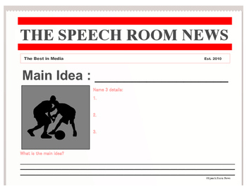 Newspaper Companion: Speech & Language Companion Pack for any Newspaper