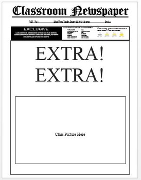Newspaper Cover Template