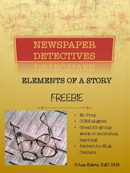 Newspaper Detectives: Elements of a Story