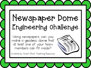 Newspaper Dome: Engineering Challenge Project ~ Great STEM Activity!