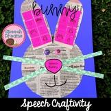 Newspaper Easter Bunny Speech Craft (articulation language)