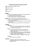 Newspaper Front Page Lesson Plan
