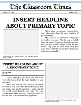Newspaper Front Page Template (PowerPoint and Google Slide)