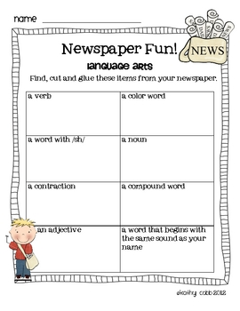 Newspaper Fun!