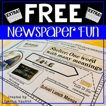 Newspaper Fun {Freebie}