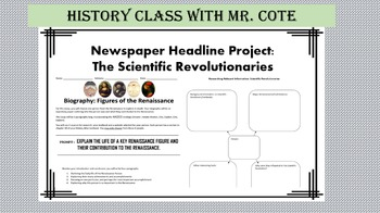 Newspaper Headline Project: The Scientific Revolution