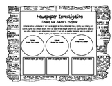 Newspaper Investigation (Author's Purpose) Graphic Organizer