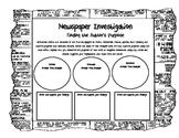 Newspaper Investigation (Author's Purpose) Graphic Organizer