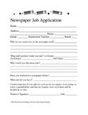 Newspaper Job Application