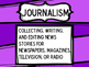 Newspaper [Journalism] Vocabulary Terms-Cards, Color, Black & White, Blank Cards
