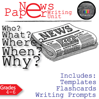 Newspaper Journalistic Writing Lesson Bundle
