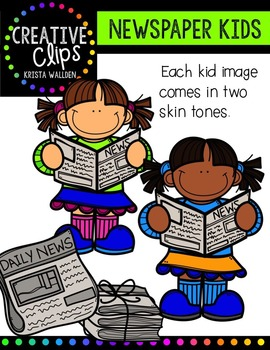 Newspaper KIDS {Creative Clips Digital Clipart}