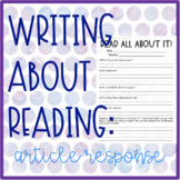 Writing About Reading: Article Response