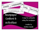 Newspaper Magazine Center Activities for Cut Paste