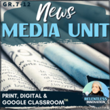 ⭐Newspaper Media Unit News Report Article Writing Lessons Activities Assessments