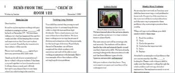Newspaper Newsletter: Weekly Parent/Teacher Communication