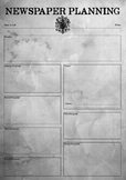Newspaper Planning Sheet