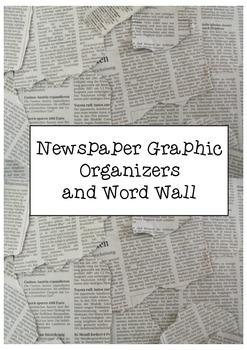Newspaper Report Graphic Organiser