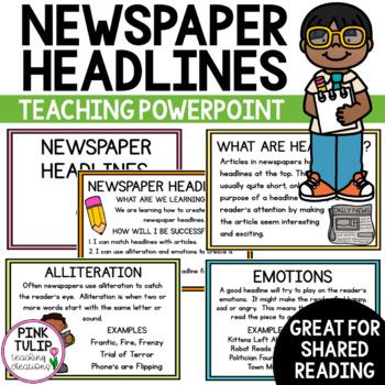 Newspaper Report Headlines - PowerPoint