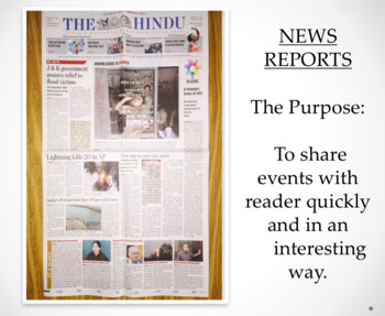 Newspaper Reports: Features and Labels