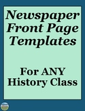 Newspaper Review Activity Templates