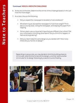 Newspaper STEM Challenges: 3 Engineering Activities