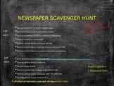 Newspaper Scavenger Hunt!
