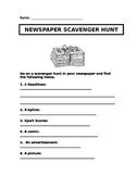 Newspaper Scavenger Hunt