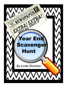Graphic Sources and Text Features -Newspaper Scavenger Hunt