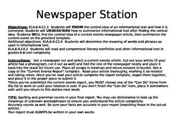 Newspaper Station