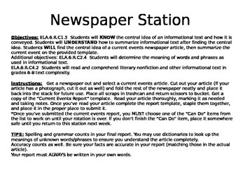 Newspaper Station